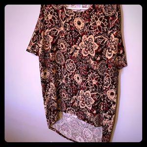 LuLaRoe women's short sleeve tunic shirt